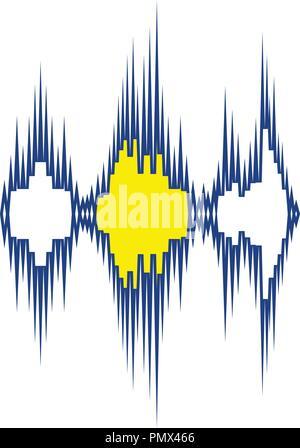 Music equalizer icon. Thin line design. Vector illustration. - Stock Image