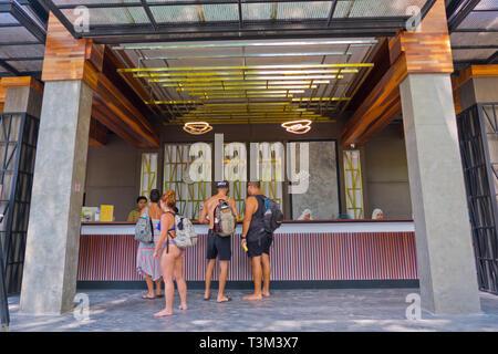 Reception area, Railay Bay resort and spa, Railay West Beach, Railay, Krabi province, Thailand - Stock Image