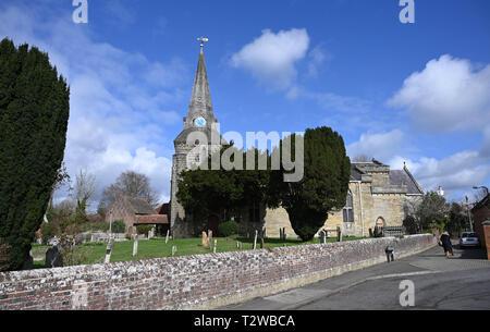 Uckfield East Sussex England UK - Holy Cross parish church of Uckfield - Stock Image