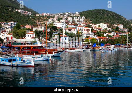 Turkey, province of Antalya, Kas harbour - Stock Image