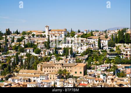 Albaicin, Granada, Andalucia, Spain - Stock Image