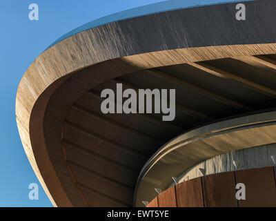 The Haus der Kulturen der Welt (House of World Cultures) in Berlin - roof detail. Digital Hasselblad shot. - Stock Image