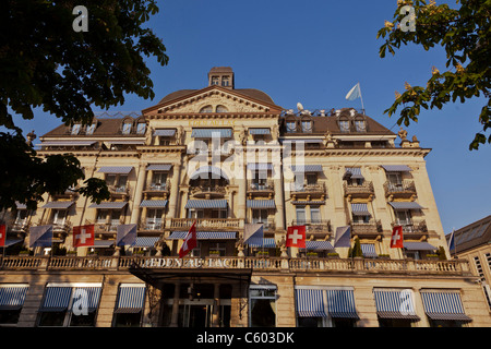 Switzerland Zuerich, Hotel Eden au Lac, near Zurich lake promande - Stock Image