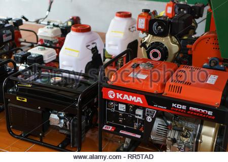 Generators for sale in Jinotega, Nicaragua - Stock Image