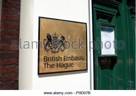 The Hague / Den Haag The Netherlands British Embassy on the Lange Voorhout. - Stock Image