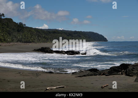 Rocky Beach on Osa Peninsula - Stock Image
