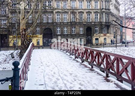 Most Sw Antoniego bridge over the Fosa Miejska, Wrocław, Wroclaw, Wroklaw, Poland - Stock Image