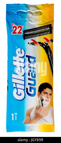 Gillette Guard single blade razor marketed in India - Stock Image
