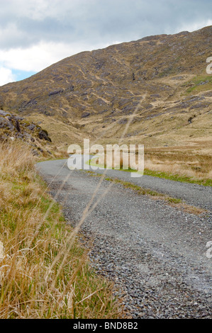Lonesome Road #31. A deserted road through the mountains - Stock Image