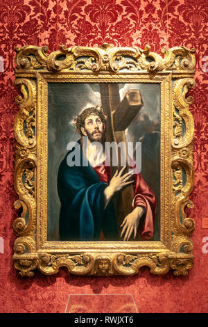 Christ Carrying the Cross, El Greco (Domenikos Theotokopoulos,  The Metropolitan Museum of Art, Manhattan, New York USA - Stock Image