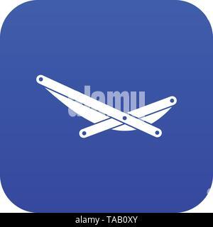 Beach chaise icon digital blue - Stock Image