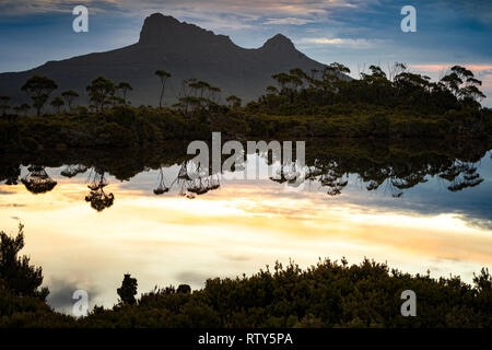 Gould Plateau in Cradle Mountain–Lake St Clair National Park, Tasmania - Stock Image