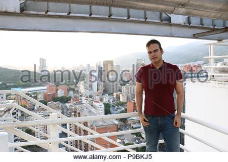 Vicente Quintero in Caracas Venezuela. Photo taken from CitiBank Tower, El Recreo Shopping Mall, Sabana Grande Caracas. - Stock Image