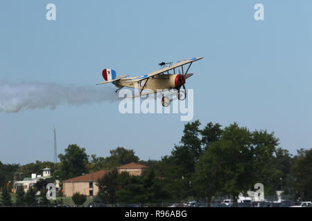 NIEUPORT C-1 airplane replica. N856AD. World War 1 Dawn Patrol Anniversary Rendezvous event. The National Museum of the United States Air Force, Wrigh - Stock Image