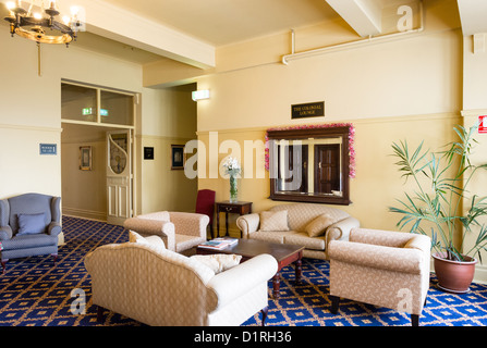 KATOOMBA, Australia - A lounge inside the historic Carrington Hotel in Katoomba in the Blue Mountains of New South - Stock Image