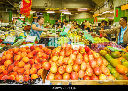 Sydney, Australia - 15th March 2013: Fruit stall in Paddy's market. The market is located in Haymarket. - Stock Image