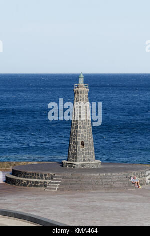 Bajamar tenerife lighthouse beach - Stock Image