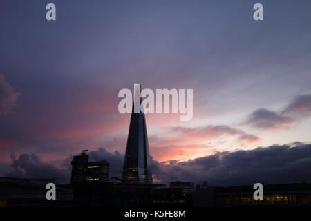 Tower Bridge and Rainbow, London, UK - Stock Image
