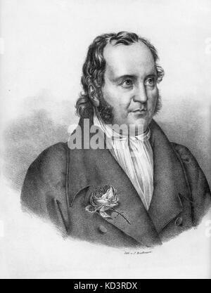 Johann Paul Friedrich Richter or Jean Paul Born Johann Paul Friedrich Richter. German writer.  21 March 1763 – 14 - Stock Image