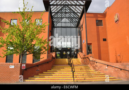Leicester Crown Court, Wellington Street, Leicester, England, UK - Stock Image