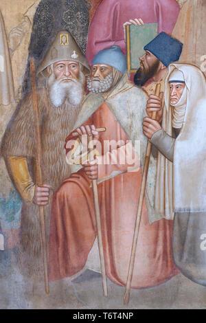 Via Veritas, The Way of Truth, detail, Andrea di Bonaiuto, 1365-1367,  Chapter House, Cappellone degli Spagnoli, Spanish Chapel, Apsidal Chapel,  Basi - Stock Image