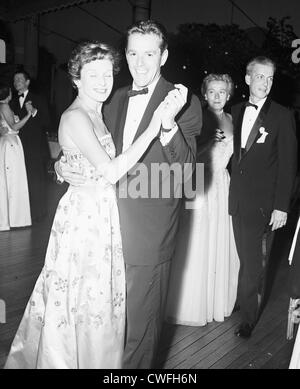 Mrs Henry Ford II and Gower Champion dancing at the Everglades Club in Palm Beach, Florida, ca 1955 - Stock Image