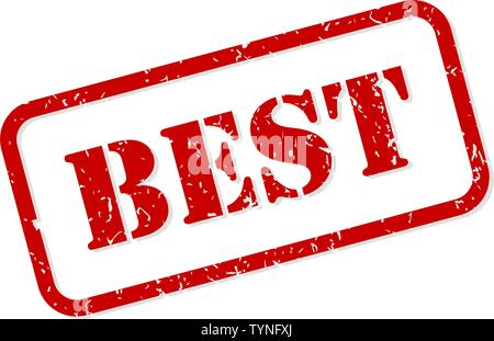 Best red rubber stamp vector isolated - Stock Image