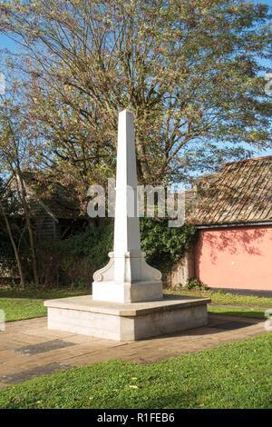 War memorial day before rememberance day Milton, Cambridge, UK - Stock Image