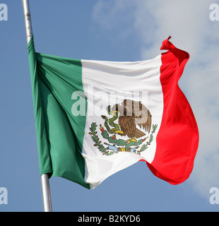 The Flag of Mexico - Stock Image