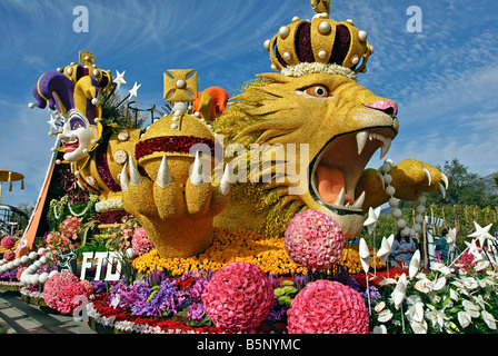 FTD Rose Parade Float Tournament Special Trophy 'The Magic of Mardi Gras' Pasadena CA Los Angeles California, - Stock Image