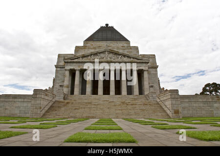 Melbourne historic landmark, Remembrance building in Melbourne, Australia  - taken - December 5th, 2009 - Stock Image