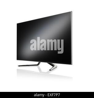 A cut out shot of a modern flat screen tv - Stock Image