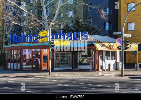 Berlin Kreuzberg Hahnchenhaus fast food outlet - Stock Image