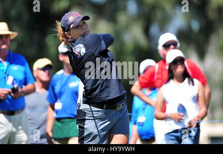 Rancho Mirage, California, USA. 2nd Apr, 2017. Ariya Jutanugarn during the final round of the ANA Inspiration at - Stock Image