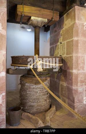 Olive oil museum Hacienda La Laguna. Baeza, Jaén province, Andalusia, Spain. - Stock Image