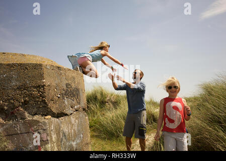 Father with daughters - Stock Image