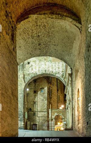 Via Maestà delle Volte, Perugia Italy - Stock Image