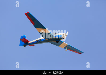 Slingsby Falke T61D, 5B-CIZ, of the Cyprus Gliding Group, based at Mammari, Cyprus October 2018 - Stock Image
