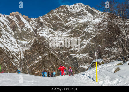 France, Hautes Pyrenees, Aure Valley, Piau Engaly ski resort - Stock Image