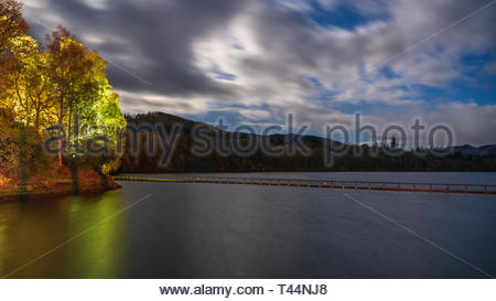 The hydro-electric dam above Pitlochry in Perthshire, Scotland - Stock Image