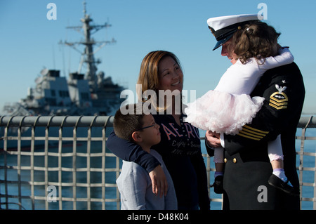 USS Freedom deploys. - Stock Image