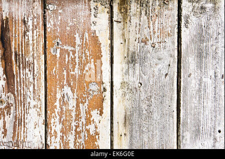 Weathered wood panels as a background texture - Stock Image