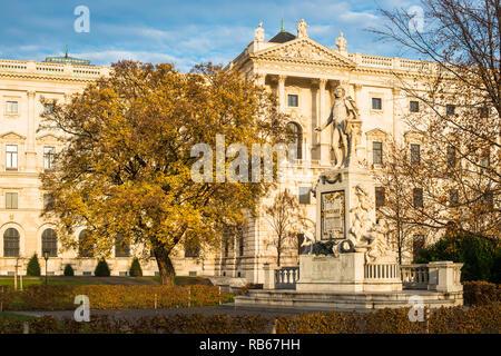 Neue Burg building part of the Hofburg palace complex seen from Burggarten. Vienna, Austria. - Stock Image
