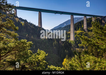 Europa Bridge on A13 Brennerautobahn, near Innsbruck, Tyrol, Austria - Stock Image