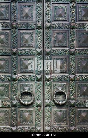 USA Boston Door Handles Church - Stock Image