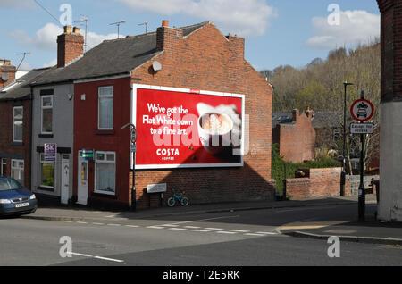 Street corner advert hoarding - Stock Image
