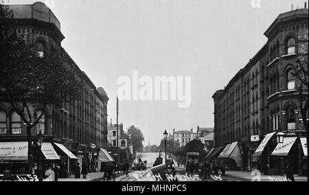 Elgin Avenue, West London, looking towards Edgware Road.       Date: circa 1910 - Stock Image