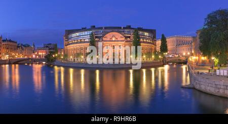 Riksdagshuset in Stockholm, Sweden - Stock Image