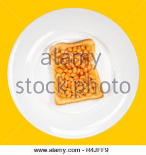 Beans on toast, UK. - Stock Image