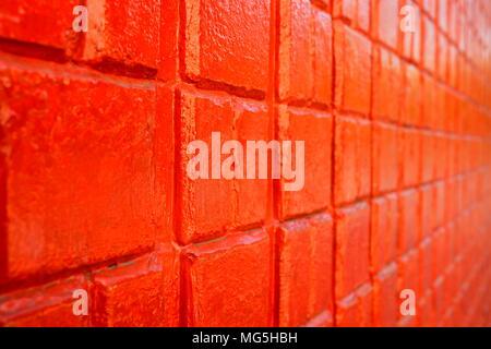 Close-up Red Brick Wall. (Selective Focus) - Stock Image